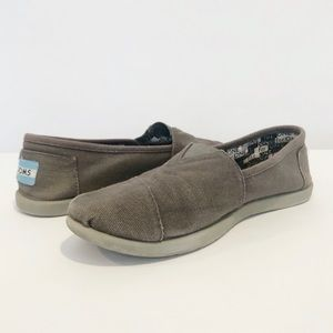 Toms Youth (GUC) Kids Gray Canvas Classics Y4.5